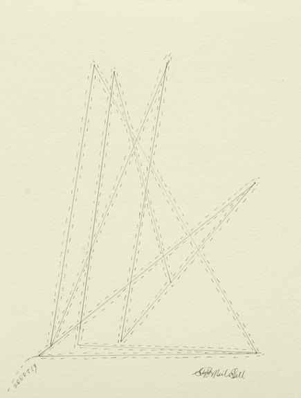 triangles, 3d, pencil, paper, drawing,